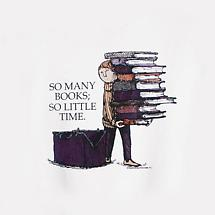 EDWARD GOREY SO MANY BOOKS T-SHIRT