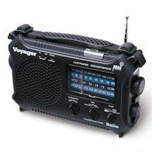 Solar-Powered Emergency Radio: Black