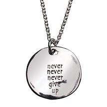 NEVER GIVE UP NECKLACE (NON-ENGRAVED)