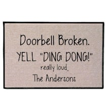 "Personalized ""Yell Ding Dong"" Doormat"