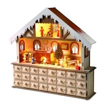 Lighted Santa's Workshop Advent Calendar