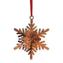 3-D Metal Snowflakes Christmas Ornament