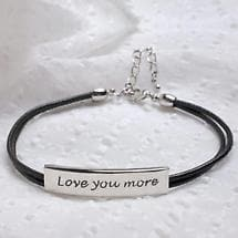 LOVE YOU MORE BRACELET - STAINLESS STEEL (NOT ENGRAVED)
