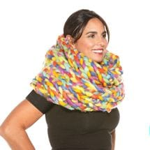 Oversized Braided Infinity Scarf