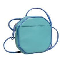 Leather Octagon Cross-Body Bag