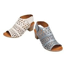 Spring Footwear® Leather Geo Art Sandal