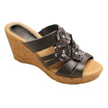 Floral Bouquet Leather Sandal