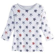Americana Stars Rib-Knit Top