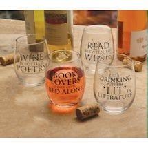 Wine Wisdom Stemless Wine Glass