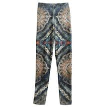 Kaleidoscope-printed Velvet Leggings