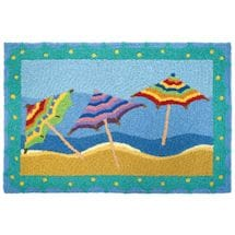 Beach Umbrella Indoor/Outdoor Accent Rug
