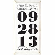 "Personalized ""Best Day Ever"" Wood Wall Art - Vertical"