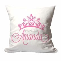 Personalized Princess Crown Pillow