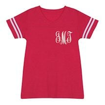 Personalized Script Monogram Tees - Small Monogram