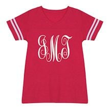 Personalized Script Monogram Tees - Large Monogram