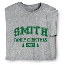 Personalized Family Christmas Tree Shirt