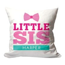 Personalized Little Sis Pillow