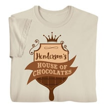 """Personalized """"Your Name"""" House of Chocolates Tee"""