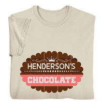 """Personalized """"Your Name"""" Scalloped Chocolate Tee"""