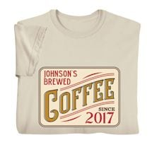 """Personalized """"Your Name"""" Brewed Coffee Tee"""
