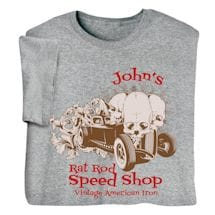 "Personalized ""Your Name"" Rat Rod Speed Shop Tee"