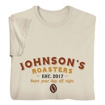 """Personalized """"Your Name"""" Coffee Roasters Tee"""