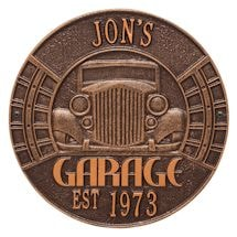 Personalized Vintage Garage Wall Plaque