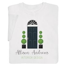 """Personalized """"Your Name"""" Welcome Home Interior Design Tee"""