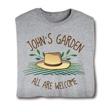 "Personalized ""Your Name"" All Are Welcome Garden Tee"