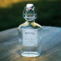 Personalized Whiskey Label Flask