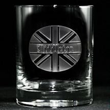 Personalized British Pride Whiskey Glass