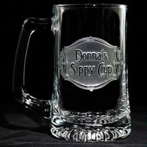 """Personalized """"Sippy Cup"""" Beer Mug"""