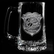 "Personalized ""Best Dad"" Beer Mug"