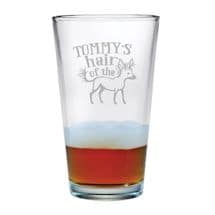 Personalized Hair of the Dog Single Pint Glass