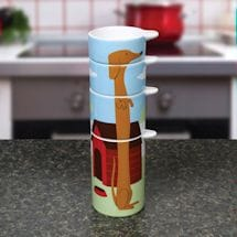 Ceramic Dachshund Stacking Measuring Cups - 4 Piece Set
