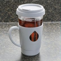 Duck Tea Infuser Glass Mug - Built In Stainless Steel Tea Ball - Grey - 16 Ounce