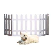 "White Picket Fence Folding Pet Gate - 19"" High X 42"" Long"