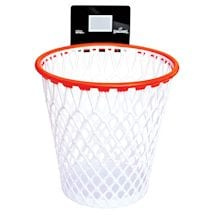 "Spalding Hoopster Waste Basket - Basketball Hoop Trash Can With Backboard - 12.25"" Diameter"