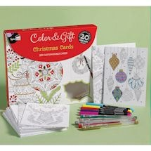 Color and Gift Christmas Cards