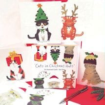 Cats in Christmas Hats Cards