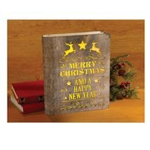 Light Up Wooden Christmas Book