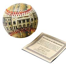 COMMEMORATIVE BASEBALL - OLD YANKEE STADIUM