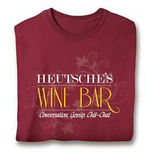 "Personalized ""Your Name"" Wine Bar Shirt"