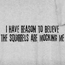 THE SQUIRRELS ARE MOCKING ME SHIRT