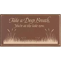 Take A Deep Breath Lake Sign