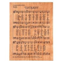 Etched Wood Hymn Plaque - Amazing Grace