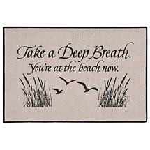 TAKE A DEEP BREATH YOU'RE AT BEACH DOORMAT