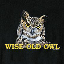 WISE OLD OWL TEE