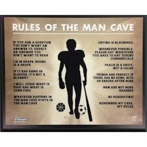 Man Cave Rules 8X10 Plaque