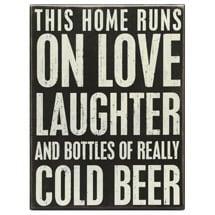 This Home Runs On Love... Box Sign